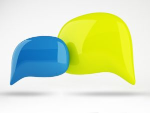 3D of Color Speech Bubbles Design